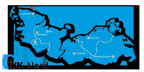 Karte IKK Nord Präventionskurse.